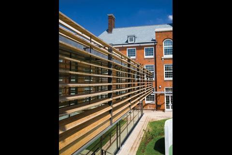 Elm Court school: The new wing and the rear of the refurbished school